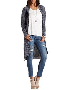 Marled Duster Cardigan Sweater: Charlotte Russe