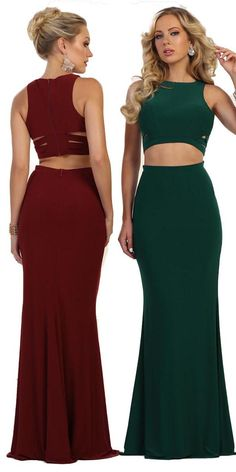 Long two pieces satin dress - Two Piece Prom Dresses Satin Dresses, Prom Dresses, Formal Dresses, Belly Button Smell, Navel, Two Pieces, Finger, Crop Tops, Sexy