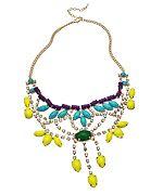 Colorful Crystal Bib Necklace