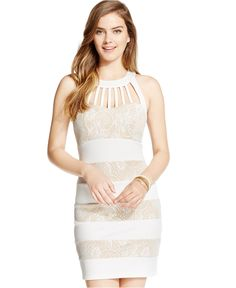 Trixxi Juniors' Embossed Bodycon Scuba Dress - Juniors Dresses - Macy's