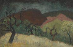 Milton Avery (American, 1885-1965), Autumn Landscape, c.1939. Oil on canvas, 24 x 36 in.