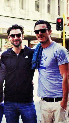 Luke Evans + Aidan Turner