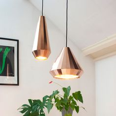 Nordic Modern Designer Rose Gold Glass Pendant Light Hanging Lamp for Hall Loft Decoration Room Kitchen Dining Room Living Room Copper Pendant Lights, Copper Lamps, Copper Lighting, Glass Pendant Light, Pendant Lighting, Pendant Lamps, Interior Lighting, Home Lighting, Lighting Design