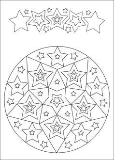 Desenhos para colorir para crianças. Desenhos para imprimir e colorir Mandalas 76