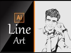 The Best Tutorial To Learn Line Art Using Adobe Illustrator Adobe Illustrator Tutorials, Photoshop Illustrator, Graphisches Design, Vector Design, Design Trends, Photoshop For Photographers, Design Poster, Good Tutorials, Photoshop Tutorial