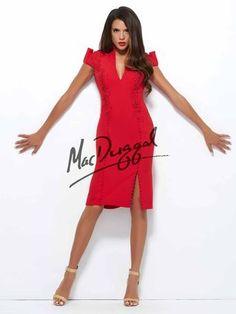 55c62145c54 Mac Duggal Black White Red - 48296R Glamorous Dresses
