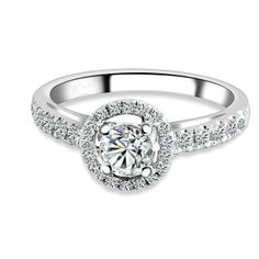 Round Diamond Engagement Rings With Halo 23