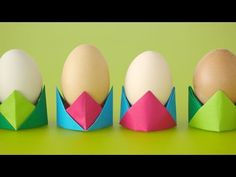 When folded in a series of simple steps, origami paper can become sturdy enough to hold an egg. The cups can even double as fun place-cards for your Easter b...