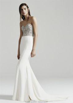 Rachel Gilbert Tijana Bridal Bodice New Wedding Dress Save Classic Wedding Dress, New Wedding Dresses, Designer Wedding Dresses, Bridal Dresses, Prom Dresses, Formal Dresses, Bodice Wedding Dress, Rachel Gilbert, Dream Wedding