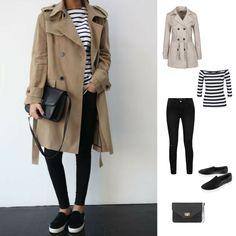 Trenchcoat with slip-on. Such a perfect mix.