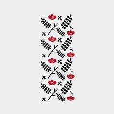 #poppy #flower #folk #geometry #minimal #pattern #design #floral #sketchbook #idea #AguWu