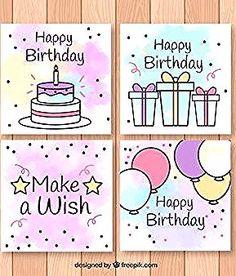 Happy Birthday Cards Handmade, Creative Birthday Cards, Birthday Cards For Friends, Bday Cards, Creative Cards, Happy Birthday Drawings, Birthday Doodle, Diy Birthday, Birthday Wishes