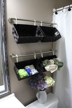 Great way to store bathroom supplies.  Looks great in all our floor plans!