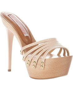 Gianmarco Lorenzi Platform Mule in Brown (nude) | Lyst