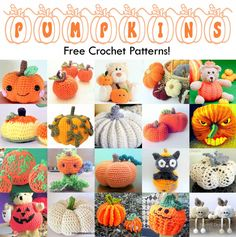 Make these free pumpkin crochet patterns and decorate your home for fall, autumn, Halloween and Thanksgiving!