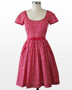 Red Hot Polka Dot Dress