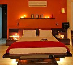 1000 images about orange bedrooms on pinterest orange for Black white and orange bedroom