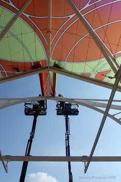 Tram Station installation, Lodz/Poland Ferris Wheel, Poland, Travel, Design, Viajes, Destinations, Traveling, Trips, Design Comics
