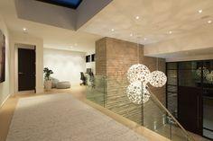 Elegant Contemporary House In West Vancouver, Canada Modern Entrance, Entrance Design, Contemporary Bathrooms, Contemporary Interior, Interior Design Studio, Modern Interior Design, Stone Fireplace Surround, Architecture Design, Interior Decorating