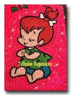 Peebles cake flinstones pucapiedras pastel de una plancha casero 100% fresh homemade baking #tulipáncupakes en facebook