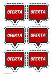 Etiquetas Oferta para expositores #Supermercados #Oferta #Comercios