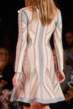 Hervé Léger Spring 2015 Spring 2015 Fashion, Fashion Week, Runway Fashion, High Fashion, Womens Fashion, Max Azria, Herve, Couture Details, Vintage Vogue