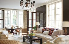 Nashville's historic Boxwood estate.  Interior design by David Netto.