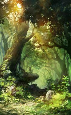 Voice of Nature Landscape Concept, Fantasy Landscape, Fantasy Paintings, Fantasy Art, Scenery Pictures, Fantasy Places, Anime Scenery, Illustration Art, Nature Illustrations