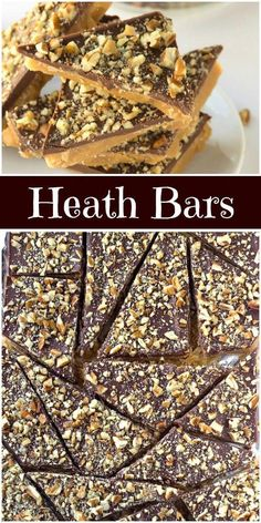 Easy recipe for homemade Heath Bars candy bars. These homemade candies are great for packaging up and gifting for the holidays. Just Desserts, Delicious Desserts, Dessert Recipes, Heath Desserts, Cookie Desserts, Candy Cookies, Yummy Cookies, Heath Bar Cookies, Heath Bar Recipes