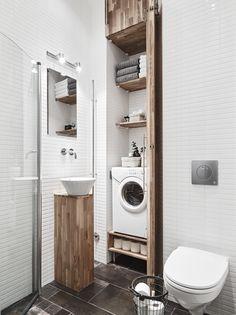 washing mashine ideas in bathroom