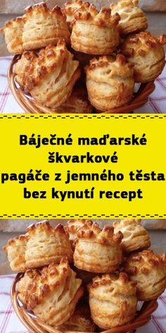 Báječné maďarské škvarkové pagáče z jemného těsta bez kynutí recept Starters, Ham, Food And Drink, Meals, Chicken, Baking, Vegetables, Hampers, New Years Eve