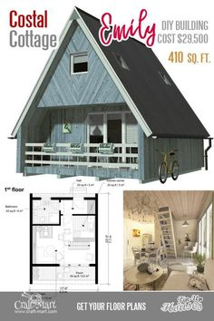 Cute Small Cabin Plans (A-Frame Tiny House Plans Cottages Containers) &; Craft-Mart Cute Small Cabin Plans (A-Frame Tiny House Plans Cottages Containers) &; Craft-Mart A V. avkochergin Архитектура A-frame small house Emily […] Small Cabin Plans, A Frame House Plans, Small House Floor Plans, A Frame Floor Plans, Micro House Plans, Tiny Cottage Floor Plans, Wooden House Plans, Two Bedroom Tiny House, Plan Chalet