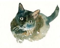 Watercolor Painting Of Your Cat More