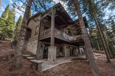 This mountain home, designed for and built in the Pine Mountain area of Kamas, Utah. Every effort was made to preserve the existing vegetation around the home, so the entry and presentation of the home is impeccably impressive. Entering the home, you will find high, vaulted ceilings,and an abundance of exposed-timber framing, creating an equally striking view on the interior. Large common areas, built-in bunk beds, and patio space make this home a perfect family retreat. #cabin #exterior Custom Home Builders, Custom Homes, Kamas Utah, Patio Under Decks, Bunk Beds Built In, Pine Mountain, Vaulted Ceilings, Common Area, Preserve