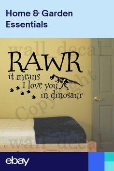 Rawr It Means I Love You in Dinosaur Wall Decal Vinyl Decor Sticker Nursery Kids Vinyl Decor, Wall Stickers Home Decor, Vinyl Wall Stickers, Wall Decal Sticker, Scotland Funny, Dinosaur Wall Decals, Funny Decals, Family Tree Wall Decal, Cricut
