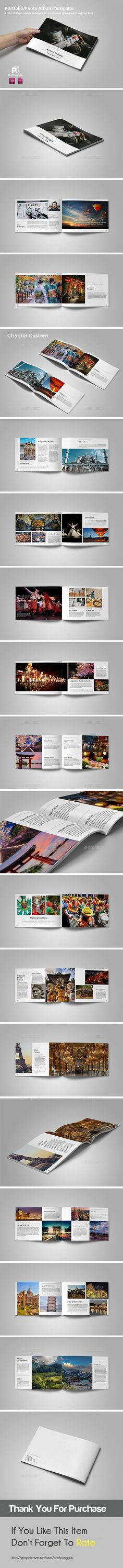 Photography Portfolio/Photo Album (landscape) Template InDesign INDD. Download here: http://graphicriver.net/item/photography-portfoliophoto-album-landscape-vol4/15485495?ref=ksioks