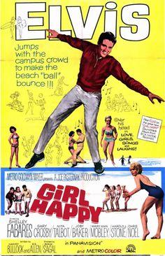 Elvis Presley  Movie Poster Girl happy