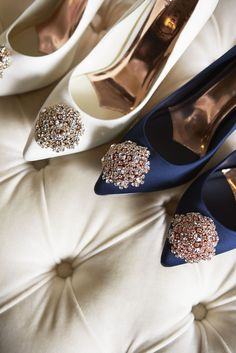 Your first steps up the aisle and your first dance are moments to remember. So step in the name of love in a pair sparkly, bejeweled wedding shoes. #WedWithTed