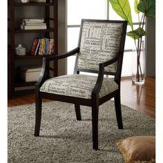 FurnitureMaxx Blake Script Fabric Accent Chair : Accent Chairs