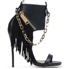 Dsquared2 Sandals ($1,245) ❤ liked on Polyvore featuring shoes, sandals, heels, black, zipper sandals, black shoes, leather fringe sandals, fringe shoes and leather heel sandals