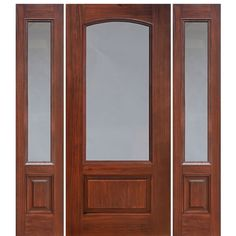 Privacy and Clear Glass Fiberglass Exterior Doors Double Doors Interior, Interior Barn Doors, Indoor Barn Doors, Traditional Front Doors, Internal Sliding Doors, Fiberglass Entry Doors, Wood Front Doors, Porch Doors, House Doors