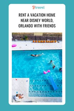 An outdoor pool, hot tub, and entertainment center await at this epic vacation home near Disney World. Read up on all you need to know for planning a large family getaway. #DisneyWorld #OrlandoFlorida #VacationHome #RentalProperty #FamilyReunion #HiddenGems #RoadTripIdeas #USRoadTrips #FamilyTravel