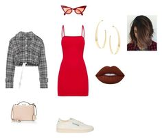 """""""Out"""" by marialuisabarbos ❤ liked on Polyvore featuring Reebok, Off-White, Mark Cross, Lana and Lime Crime"""