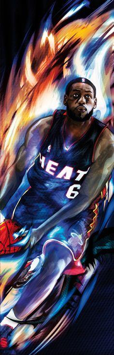 Lebron James  Nike Basketball | House of hoops Barcelona by drasik , via Behance