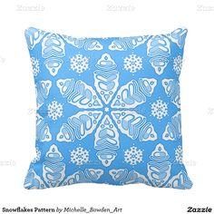 Snowflakes Pattern Throw Pillows