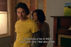 After George destroys the furniture. Being Human Uk, Aidan Turner, Crazy Life, How I Feel, Tv Shows, Geek Stuff, Celebs, Feelings, My Love