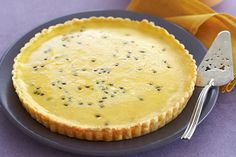 Save this gorgeous passionfruit tart to your cookbook for a delicious afternoon tea. Passionfruit Tart, Passionfruit Recipes, Easy Tart Recipes, Sweet Recipes, Pie Recipes, Sweet Pie, Sweet Tarts, Pie Dessert, Dessert Recipes