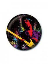 Band Badges | GrindStore ~Jimi Hendrix Neon Paint Badge~