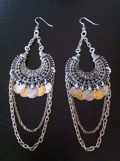 Belly dance Earrings Gypsy Soul BOHO Jewelry by RedGypsyJewelry, $37.00