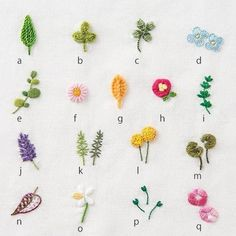 Hand Embroidery Designs Diy Embroidery Embroidery Alphabet Hand Embroidery Flowers Hand Embroidery Stitches Handkerchief Embroidery Cross Stitch Embroidery Embroidery For Beginners Beginners Sewing Basic Embroidery Stitches, Floral Embroidery Patterns, Embroidery Flowers Pattern, Learn Embroidery, Embroidery For Beginners, Hand Embroidery Designs, Embroidery Sampler, Machine Embroidery, Embroidered Flowers